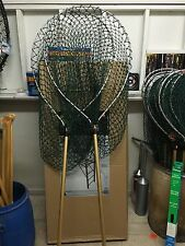 "2 Sampo Landing Nets 42""X30"" W/ 48"" Telescopic Handle Made In USA Catfish Salmon"