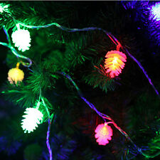 1x20-LED Battery Operated Pine Cone String Fairy Lights Xmas Wedding Decoration