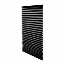"Quick Fix Blackout Pleated Paper Shade Black, 36"" x 72"", 6 Pack by Redi ShadeNEW"