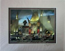 Gruman's Chinese Theatre Matted Print Larry Grossman's (signed by artist)