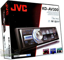 "JVC KD-AV300  3 "" LCD DVD/CD/MP3/ FM/ Front USB/Aux New Car Stereo KDAV300 Radio"
