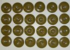 """British Army:""""BATCH OF 24x BACHELOR BUTTONS""""(19mm, Denim BDs, WLA Overalls etc)"""