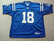 Indianapolis Colts Peyton Manning Sewn Blue Reebok NFL On Field Jersey Men's 54