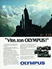 PUBLICITE ADVERTISING 0217  1981  Olympus  appareil photo  les OM -1 & OM-2