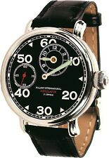 POLJOT Int. Regulator Herrenuhr Regulateur Mechanisch Handaufzug Leder schwarz