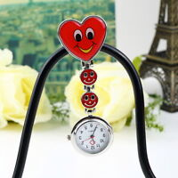 Nurse Watch Light Silicone Brooch Clip-on Quartz FOB Medical Pocket Mini Watch T
