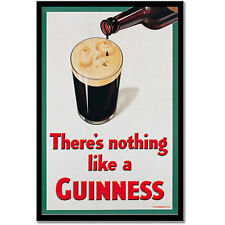 Guinness Smiling Pint Metal Sign Nothing Like a Guiness Bar Wall Decor 10.5 x 15
