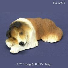 SLEEPING COLLIE 1:12 Scale Dollhouse Miniature Dog Pet