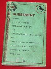 COLT Firearms Factory Union Booklet 1979
