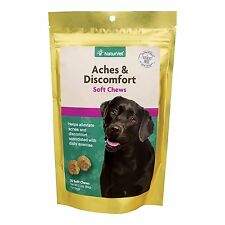 NaturVet Aches and Discomfort Tasty Soft Chew for Pets Dog Hip Joint Health 30ct