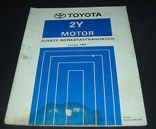 Werkstatthandbuch Toyota Hilux 2Y Motor Stand Januar 1991 Reparaturanleitung