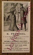 Publicité ancienne Fraenkel vetements costumes,1900,french advert