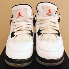 Nike AIR JORDAN 4 Retro (GS) White Cement Size 4.5Y 408452 103 - FREE SHIPP