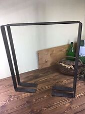 "1 set of Coffee Table Legs, Industrial Legs, 2.5"" Steel Flat Bar, Raw Steel Legs"
