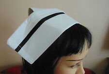 100% COTTON NURSES HAT REGULAR STYLE CAP WITH 4  BUTTONS  -  COTTON 40s