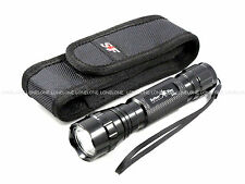 "SpiderFire T6 CREE LED 1000 Lumens CR123A/18650 Torch w/ 1""-2"" Belt Pouch #X6V"