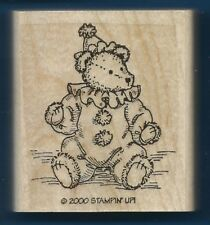 TEDDY BEAR CLOWN Hat Halloween Costume Stampin Up! Wood Mount Craft RUBBER STAMP
