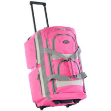"TRAVEL Pink SPORTS DUFFLE BAG Rolling Carry On Luggage Small 22"" Size Light NEW"