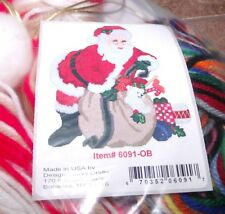 Design Works JUMBO SANTA with Bag Wall Hanging Plastic Canvas Kit Large Kit