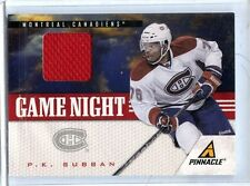 2011/12 PINNACLE  P .K. SUBBAN GAME NIGHT GAME-WORN MATERIAL