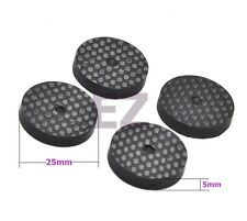 Set Of 4 Carbon Fiber Speaker Isolation 25x5mm Spike Base Pad Shoe Feet Hifi CD