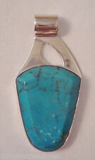 Jay King Mine Finds Sterling & Anhui Turquoise Pendant  Free Form 2007 NIB