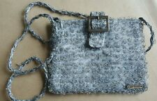 'Get Wired' Handmade Beaded Buckled Evening Bag Silver Grey