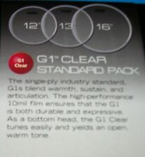 NEW Evans G1 Drum Head Pack 12 13 16 Clear (RESONANT) - LEVEL 360