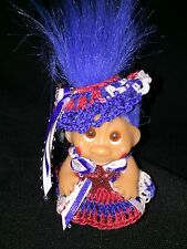 Troll crochet doll clothes - Stars Outfit-2.5''- 3'' troll-BY NIKO