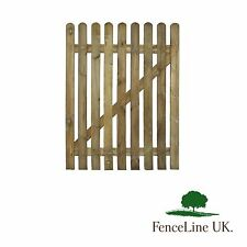 3ft x 4ft Round Topped High Quality Planed Wooden Picket Garden Gate 900 x 1200