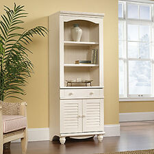Library With Doors - Antiqued White - Harbor View Collection (158082)