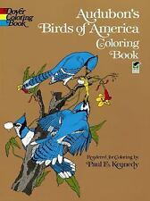 Dover AUDUBON'S BIRDS OF AMERICA Adult Coloring Book Paul E. Kennedy 1974