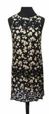 RIVER ISLAND Dress Size 6 Black w/ Yellow Floral Boho NEW w/ TAGS Cotton