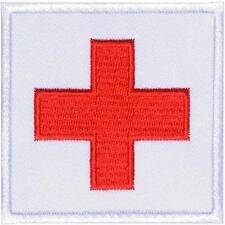 Red Cross Military Medical Fraternal Embroidered Iron on Patch