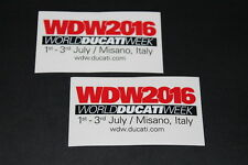 +094 WDW 2016 Ducati Week It Logo Aufkleber Decal Sticker Autocollant Motorrad