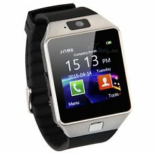 Intelligent Sport Watch Bluetooth Mp3 Music Player Touch Screen Silver