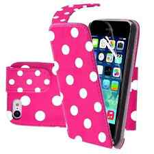 Polka Dot Design PU Leather Flip Case Cover For iphone 5c 5 c