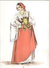 COSTUMI POPOLARI ITALIANI - Costume di PIANA DEI GRECI ED.GORLICH - MILANO 1951