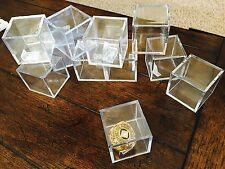 LOT Of 2 World Series Championship Ring Display Cubes w/ Ring Stand Clips