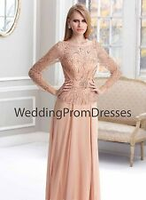 NEW Terani Couture Evening Dress, Style M1819, Peach, 14 and 18, NWT