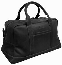 "Kenneth Cole Crumpled Leather 20"" Top Zip Duffel Bag Carry On Luggage - Black"