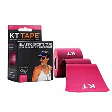 KT TAPE Original Cotton Elastic Kinesiology Therapeutic Tape PINK 20 CT