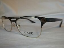 VOGUE EYE GLASSES FRAME VO4009 997 DARK BROWN PALE GOLD 54-18-140 NEW AUTHENTIC