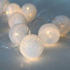 16.5 Ft. Decorative Novelty Warm White 30 LED Globe Battery String Lights Timer