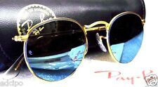 RAY-BAN *NOS VINTAGE B&L Classic Metals W1861 Etched 24K Blue Mirror SUNGLASSES