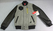 NIKE BB DESTROYER BHM Mens LE GRAY LEATHER Black History Month JACKET NWT S $550