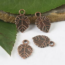 30pcs copper tone leaf charms findings h1790