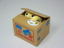 Itazura Mischief Yellow Kitty Cat Automated Stealing Coin Saving Box Piggy Bank
