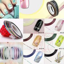 30 Pcs Mixed Colors Rolls Striping Tape Line Nail Art Tips Decoration Sticker FU