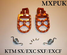 KTM125SX 2003 FOOTPEGS MXPUK  FOOT PEGS KTM ORANGE 2002 200SX 250SX 300SX (562)